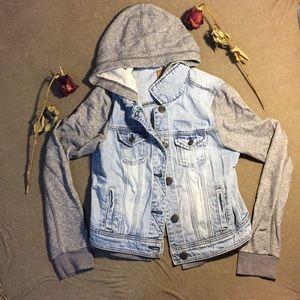 American eagle hoodie/ jean jacket